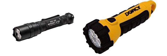 ordinary vs tactical flashlight